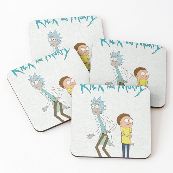 morty and rick Coasters (Set of 4)