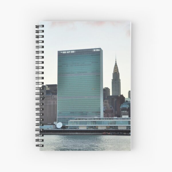 United Nations bldg...NYC Spiral Notebook