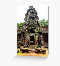 Temple of Preah Khan - Angkor, Cambodia. Greeting Card