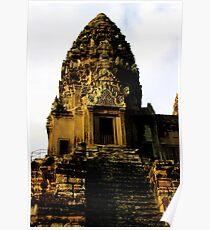 Sunrise on Angkor Wat IV - Angkor, Cambodia. Poster