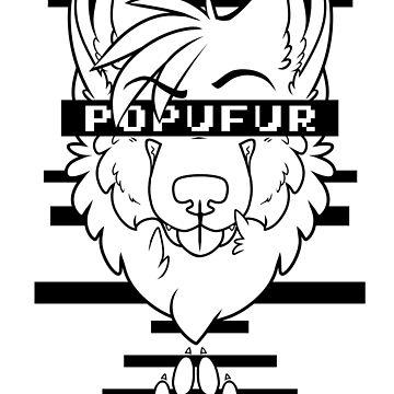 POPUFUR -black text- by 8Bit-Paws