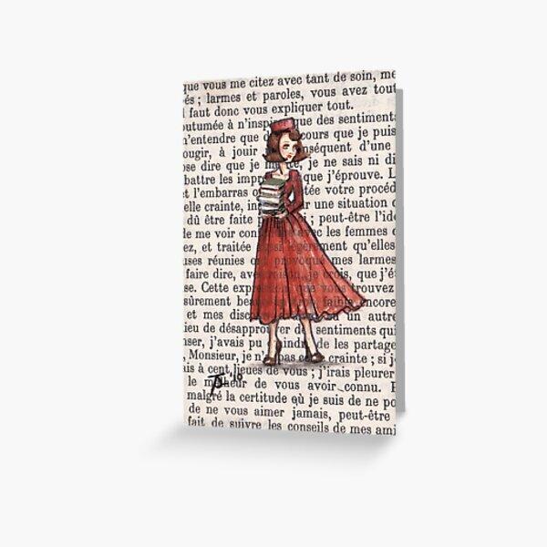 Armfuls Of Books Greeting Card