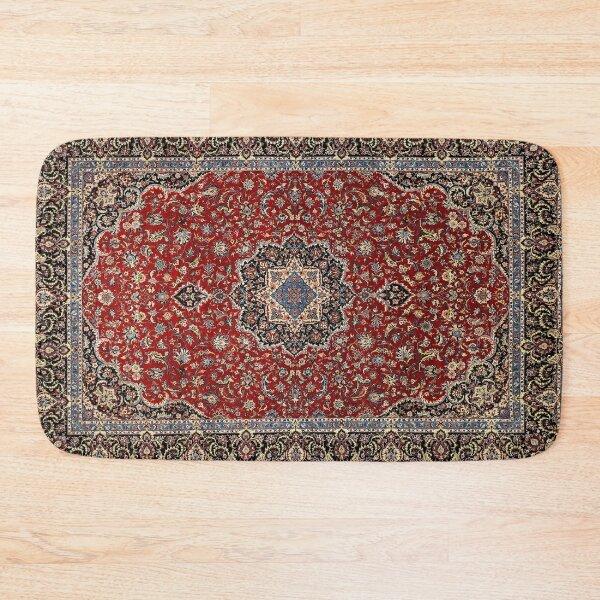 Vintage Oriental Traditional Moroccan & Turkish Style Artwork Bath Mat