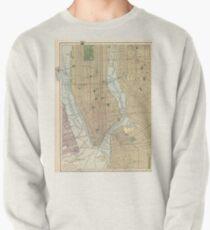 Sudadera sin capucha Vintage Map of New York City (1910)