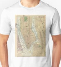 Camiseta unisex Vintage Map of New York City (1910)