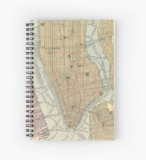 Cuaderno de espiral Vintage Map of New York City (1910)