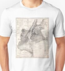 Camiseta ajustada Vintage Coastal Map of New York City (1910)