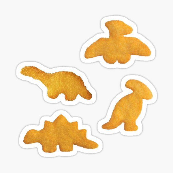 dino nuggets Sticker