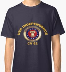USS Independence (CV/CVA-62) Crest for Dark Colors Classic T-Shirt