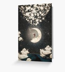 The Big Journey of the Man on the Moon Greeting Card
