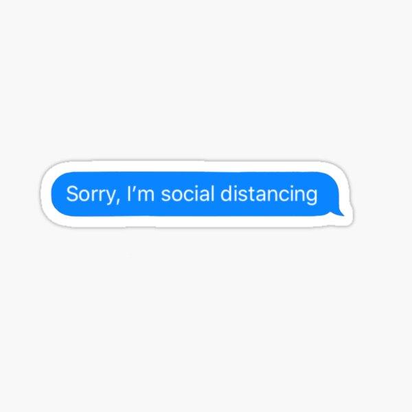 Corona virus social distancing  Sticker