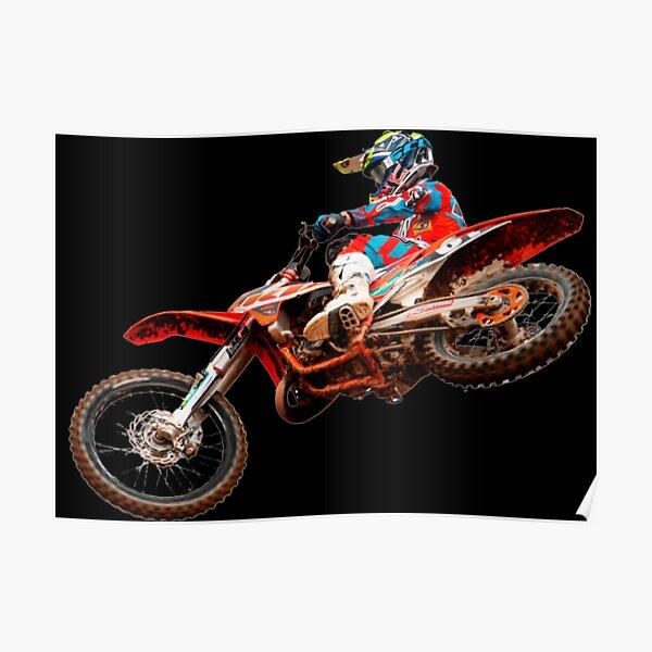 Dirt Bike Jumping Ktm Poster