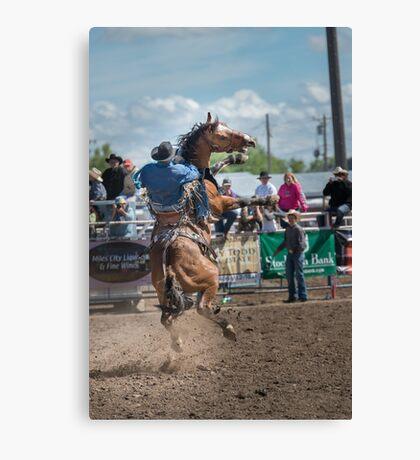 Bucking Horse Sell Canvas Print