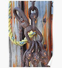 Rusted Hooks Poster