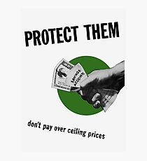 Don't Pay Over Ceiling Prices -- WW2 Photographic Print