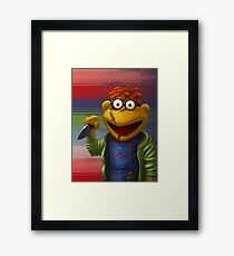 Muppet Maniac - Scooter as Chucky Framed Print