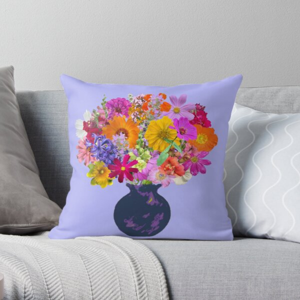 First day of spring bouquet by Tea with Xanthe Throw Pillow