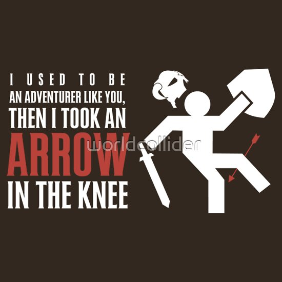 TShirtGifter presents: Arrow in the Knee