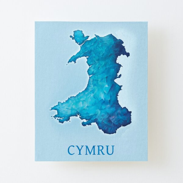 Map of Wales Canvas Mounted Print