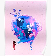 Bubble Earth Poster