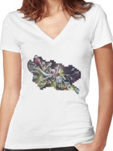 Graffiti Tees & Art - 15 Women's Fitted V-Neck T-Shirt