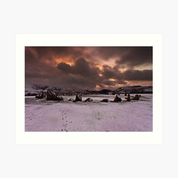 Castlerigg Winter Sunrise Art Print