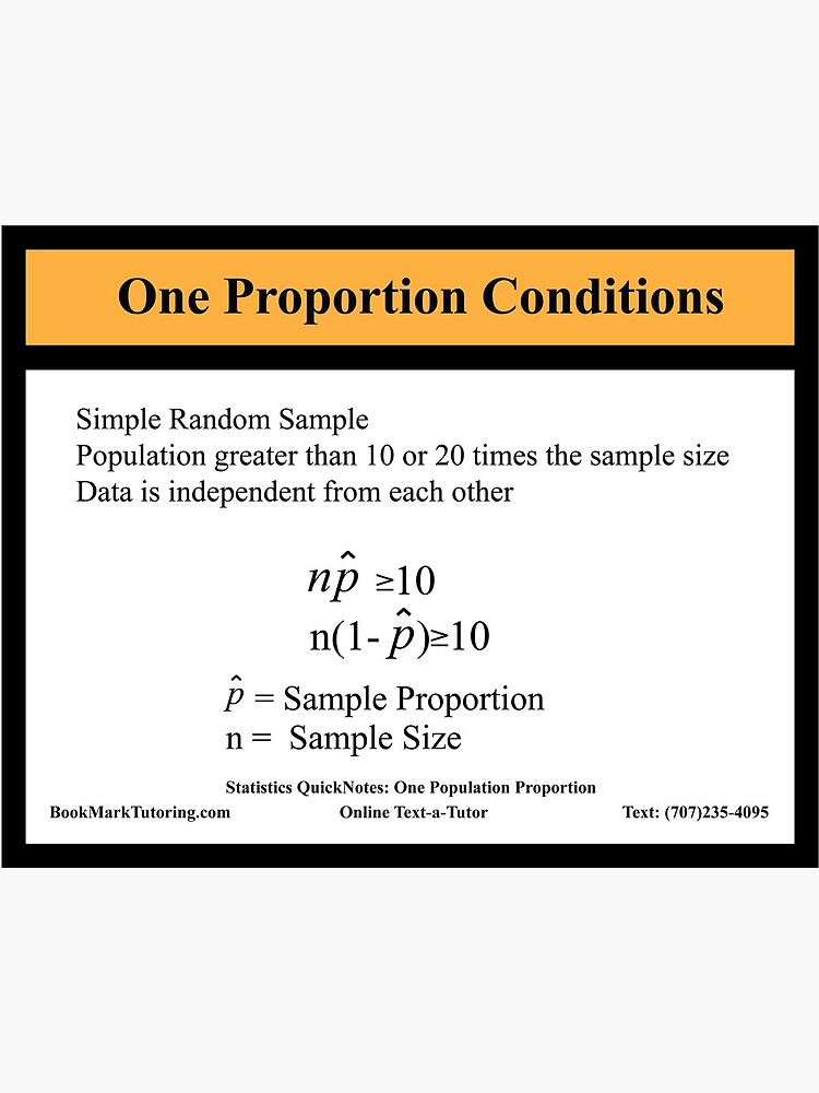 Ap Statistics One Proportion Conditions Ap Statistics Quicknotes Series Greeting Card By Markcstansberry Redbubble