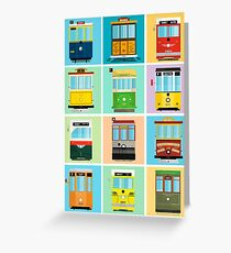 Streetcars of San Francisco Greeting Card