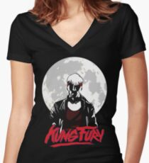 Kung Fury - Moon Women's Fitted V-Neck T-Shirt