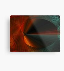 Tunnel Vision Algorithmic Art Metal Print