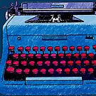 Hand Drawn Typewriter by Stacey Lynn Payne