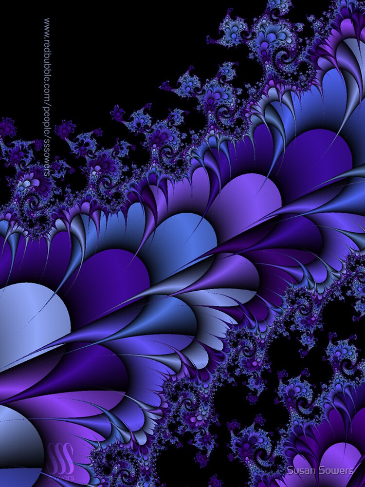 Purple Petals Fractals by SSSowers