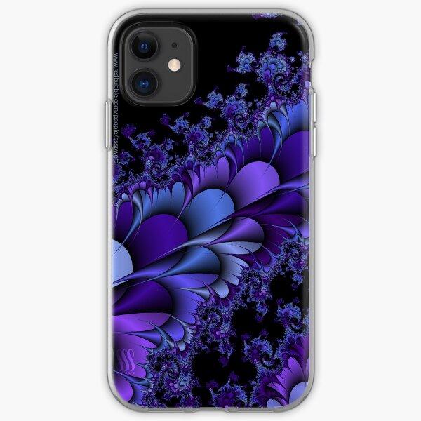 Purple Petals Fractals iPhone Soft Case