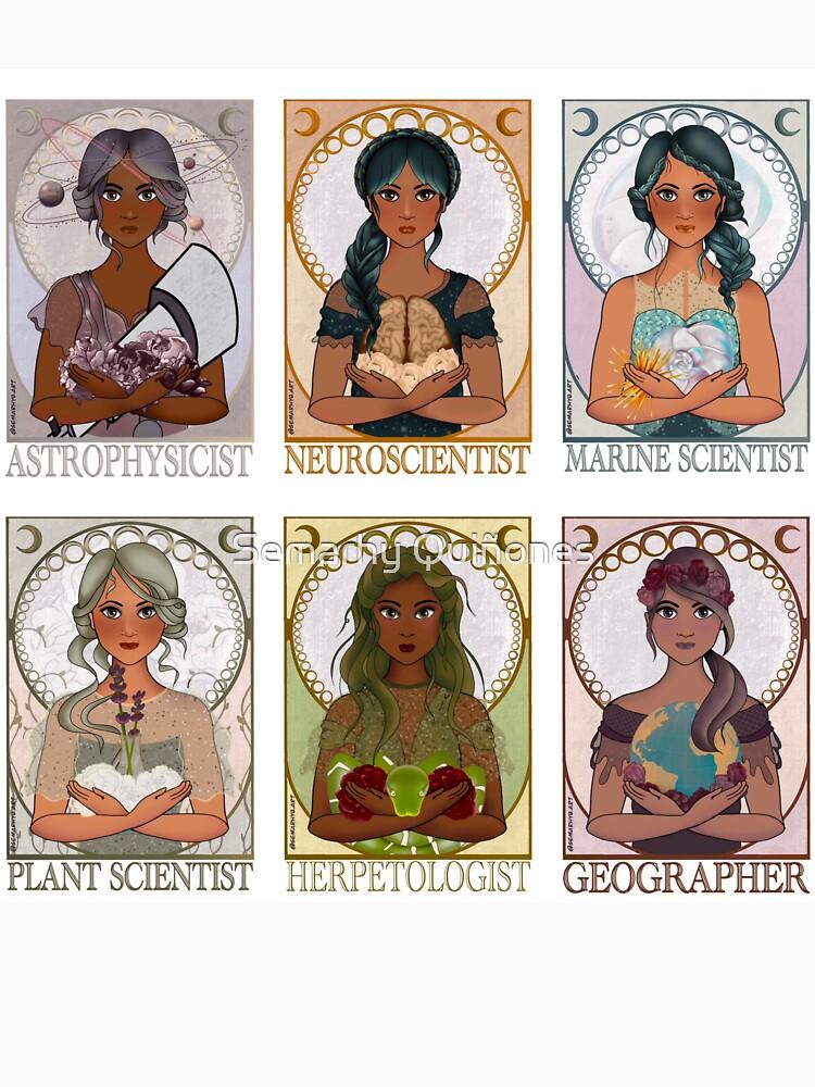 Women in Sciences (Art Nouveau) by semarhy