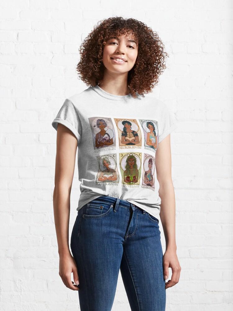 Alternate view of Women in Sciences (Art Nouveau) Classic T-Shirt