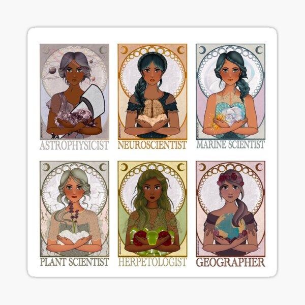 Women in Sciences (Art Nouveau) Sticker