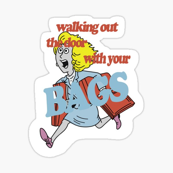 clairo walking out the door with your bags Sticker