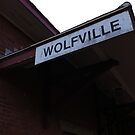 Wolfville at Sunset - Railway Sign by Chris Carruthers