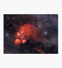 NGC 6334 Cat's Paw Nebula Bear Claw Nebula Gum 64 Photographic Print
