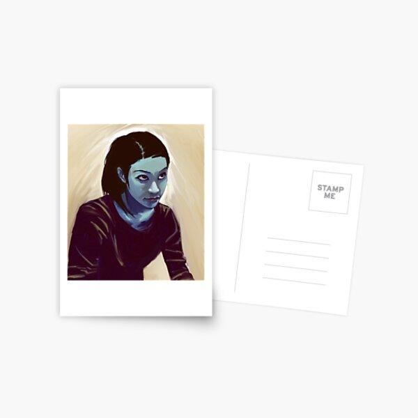 girl looking Postcard