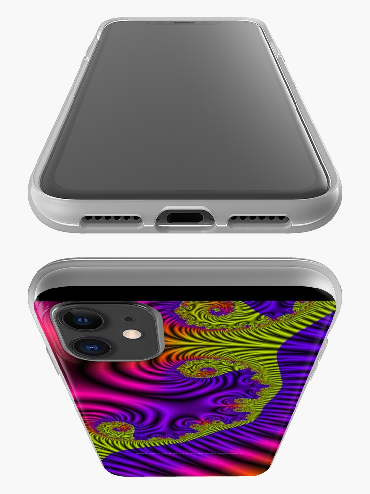 Alternate view of Fractal Ribbons iPhone Case & Cover