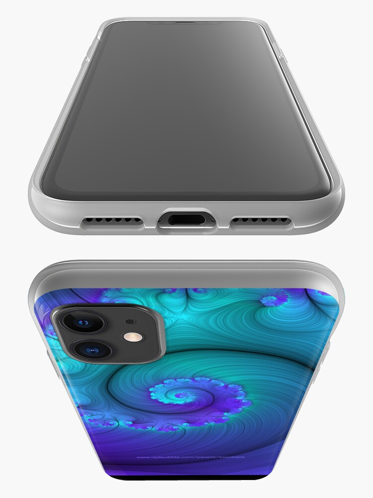 Alternate view of Designed & manipulated fractal iPhone Case & Cover
