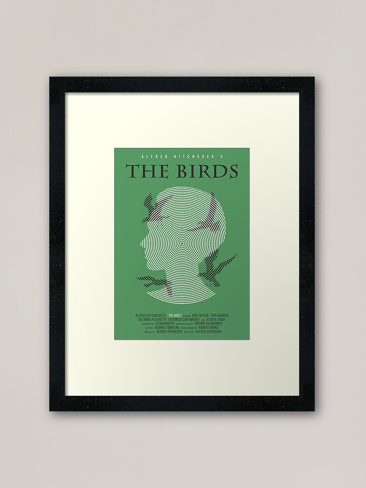Alternate view of Alfred Hitchcock The Birds Framed Art Print