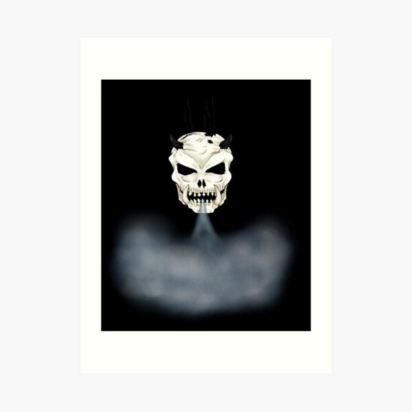 The Steam Skull Art Print