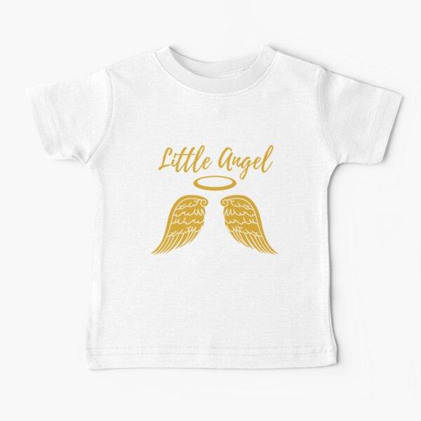 Little Angel Design on White Baby T-Shirt