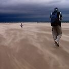 Windy Beach in St. Andrews by dgscotland