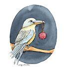 Christmas Kookaburra by Nicky Johnston