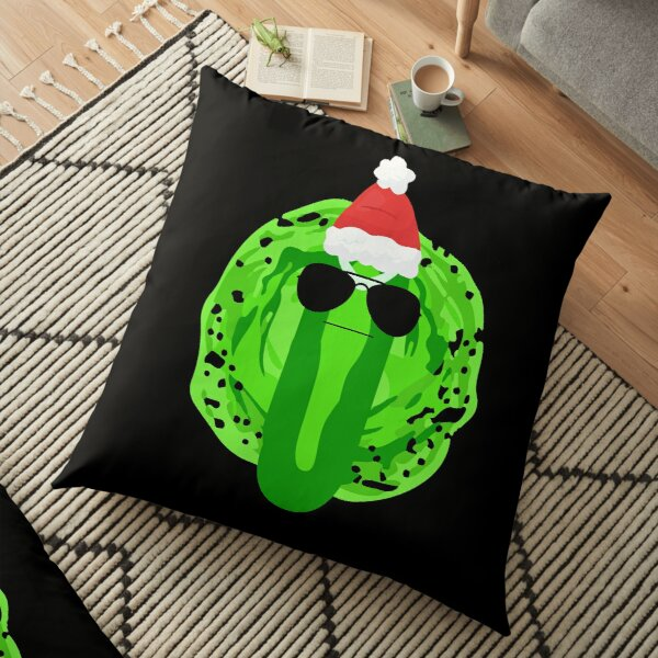 Pickle Rick Christmas Floor Pillow