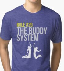 Zombieland Survival Guide - Rule #29 - The Buddy System Tri-blend T-Shirt