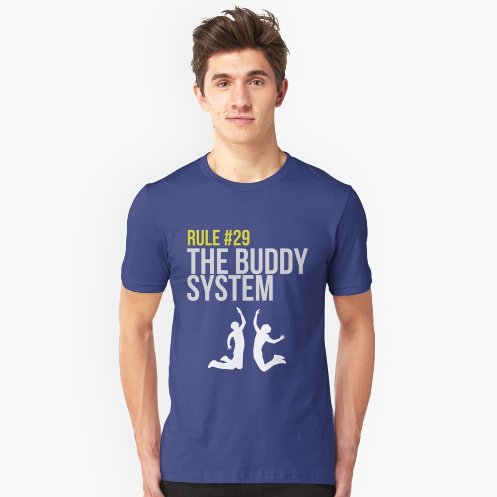Zombieland Survival Guide - Rule #29 - The Buddy System Slim Fit T-Shirt